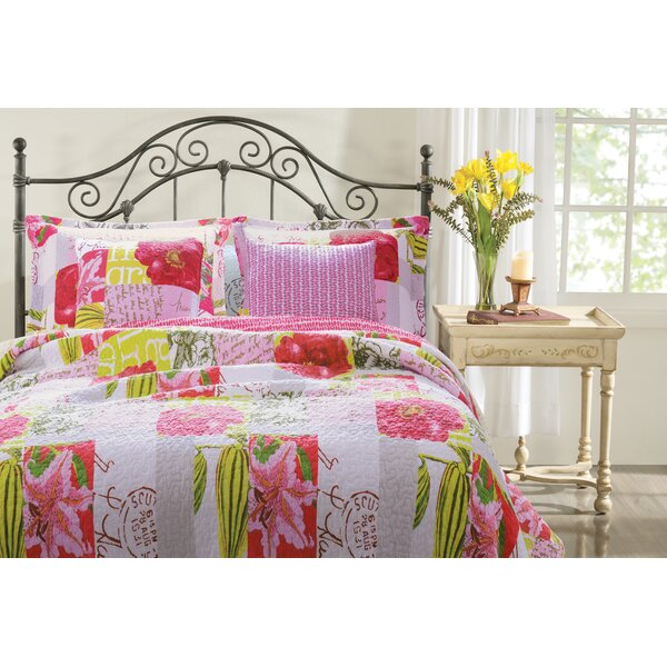 Love Letters 100% Cotton Reversible Quilt Set by Greenland Home Fashions